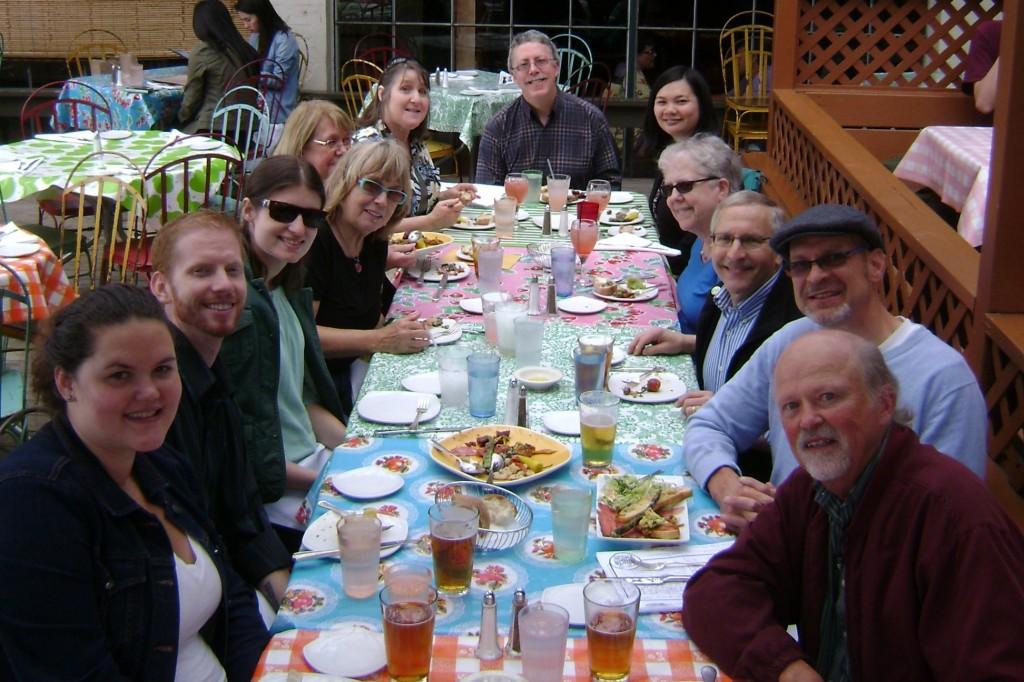 Clockwise, from bottom left: Brooke, David, Katrina, Melanie, Gloria, Laurie, Scott, Christine, Linda, Don, Elon, Mark. Not pictured: Amy, Megan