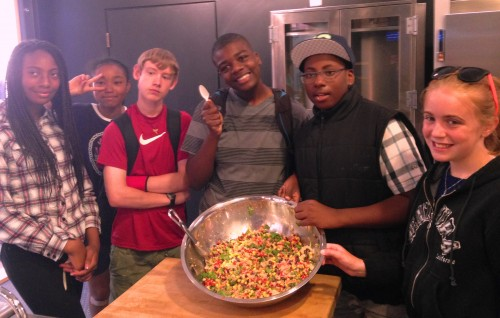 Boys and Girls Club at Rainier Vista made Southwest Quinoa Salad
