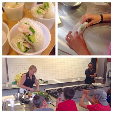 Making spring Rolls with Chef Diane